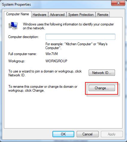 làm sao để đổi tên cho máy tính