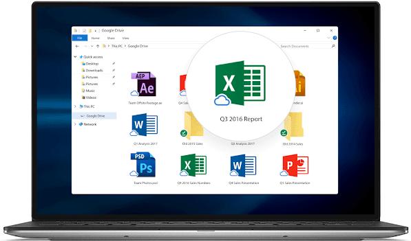 cách bật Drive File Stream