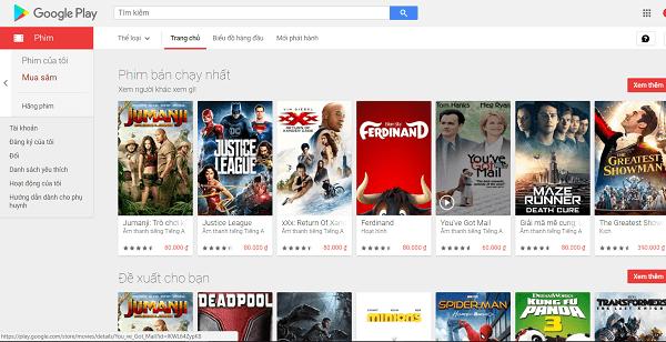 ứng dụng Google Play phim