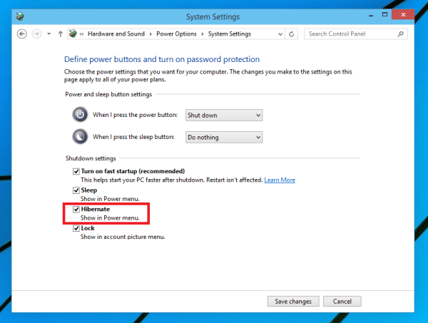 mở Hibernate trên laptop windows 10