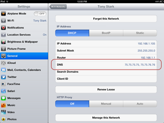 cách đổi dns trên iphone để vào mạng nhanh hơn
