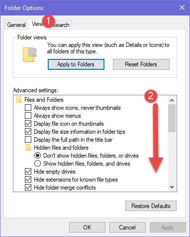 bật ibraries trong windows 10