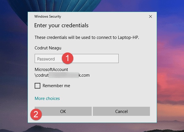 Remote Desktop Connection trên windows 10