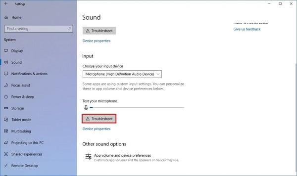 máy tính windows 10 bị lỗi âm thanh