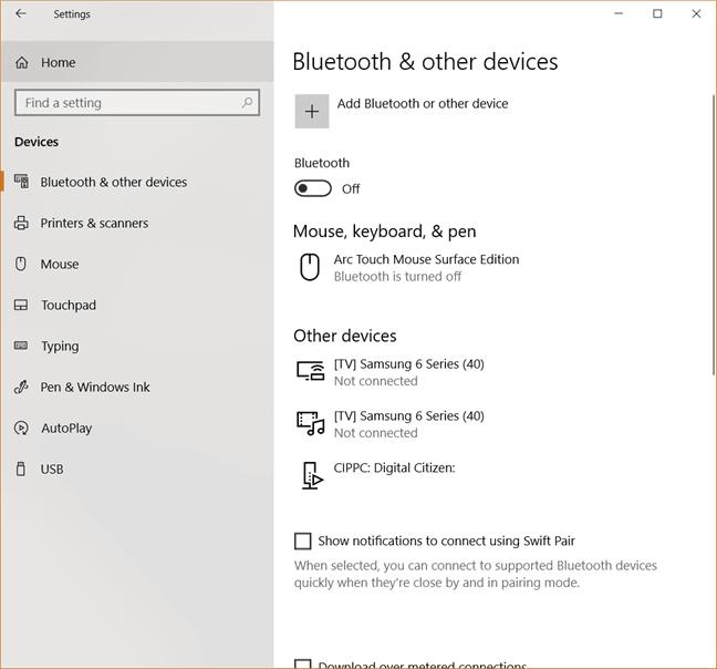 cách dùng tính năng bluetooth của windows 10