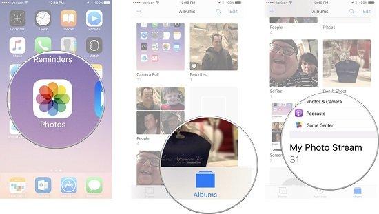 cách sử dụng My Photo Stream trên iphone