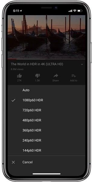 xem video HDR trên youtube mới