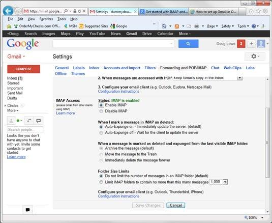 hướng dẫn thêm gmail vào trong outlook