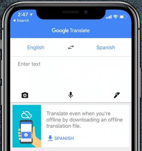 ứng dụng Google Translate offline