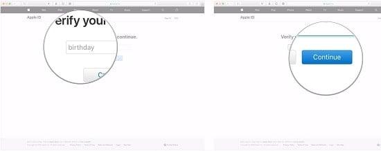 reset tài khoản apple id trên ios 11