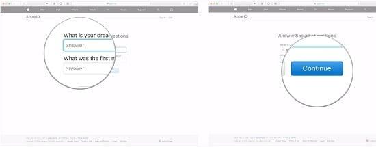 cách tạo mật khẩu mới cho apple id