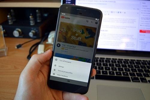 chế độ ẩn danh của ứng dụng Youtube android