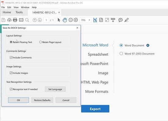 Cách chuyển đổi tệp PDF thành tài liệu Word