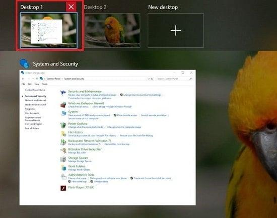 hướng dẫn xóa desktop ảo trong Win 10