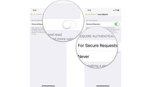 Tắt/ bật Personal Requests trên Homepod