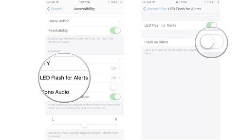 bật đèn flash khi có tin nhắn thông báo cho iphone