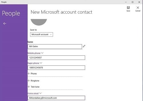 kích hoạt ứng dụng People trong Windows 10