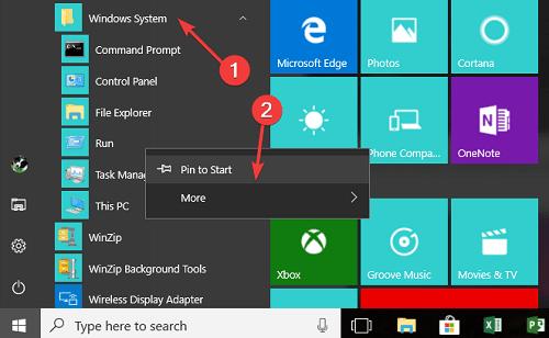 cách thêm nút Run Command cho Menu của Windows 10