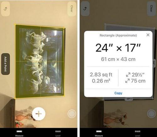 cách đo đạt kích thước của iOS 12