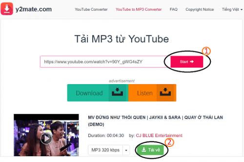 cách chuyển nhạc từ youtube sang zing mp3