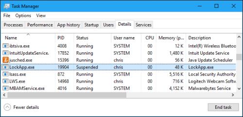 LockApp.exe trên PC là gì