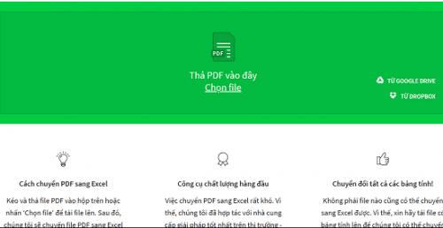 phần mềm chuyển pdf sang excel tốt nhất