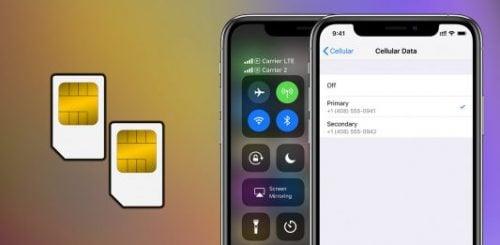 cách dùng SIM kép trên iPhone XS mới