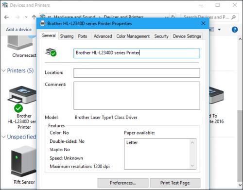 Hướng dẫn cài đặt, tìm driver máy in trên Windows 10