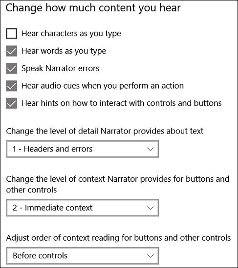 Cách sử dụng Windows Narrator