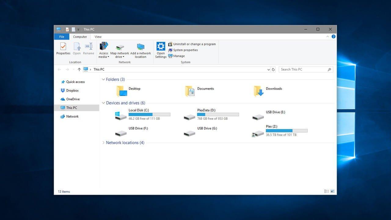ẩn ổ đĩa trống trong Windows File Explorer