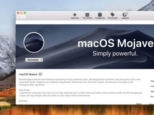 phiên bản MacOS Mojave 2018 mới nhất