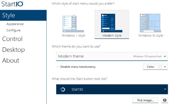 Thay đổi Menu Start của Windows 10