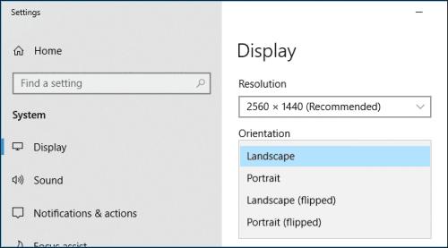 cách xoay màn hình máy tính bảng lenovo