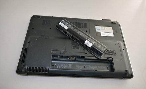 laptop dell không nhận pin