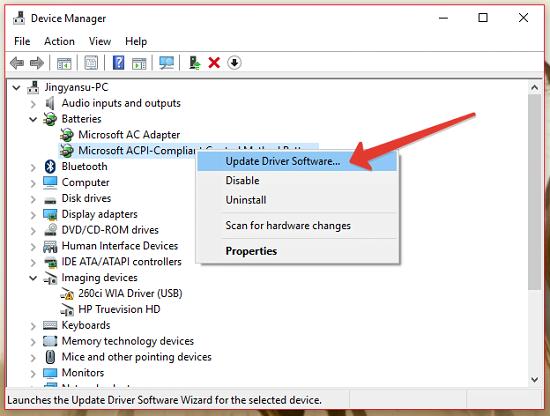 Cách sửa lỗi: Đã cắm điện, không sạc Pin được trong Windows 10