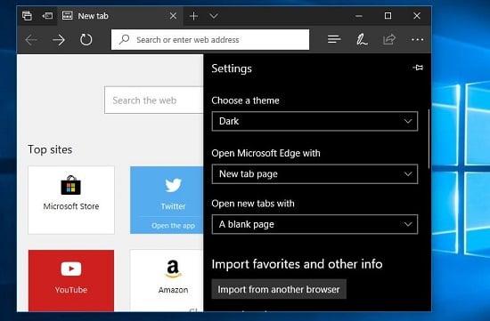 Microsoft Edge trên windows 10