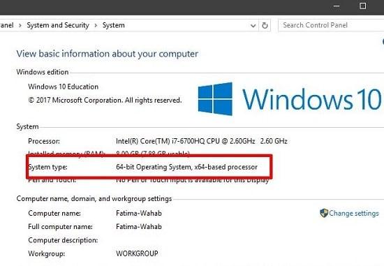 cách kiểm tra cấu hình hệ thống windows