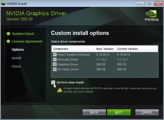 lỗi không hiển thị nvidia control panel