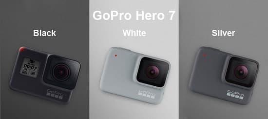 Gopro 7 đen, trắng, Sliver