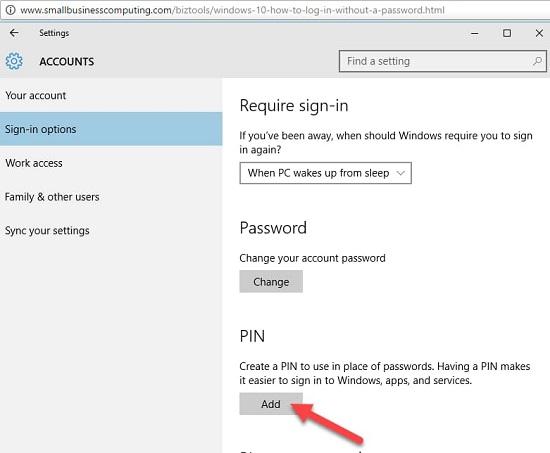 cách cài mật khẩu cho laptop win 10