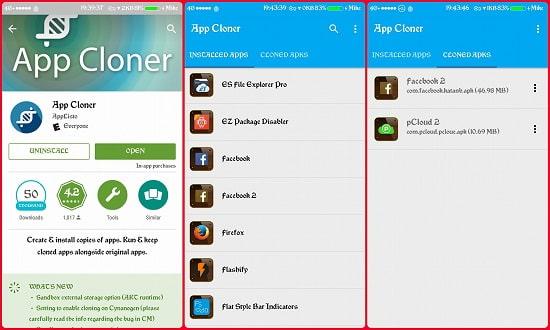 Nhân bản ứng dụng với App Cloner Premium miễn phí
