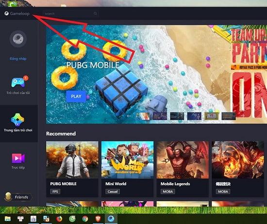 gameloop cho máy tính windows