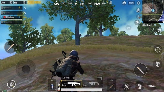 chơi game pubg mobile lite