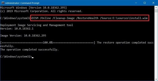 dism command windows 10