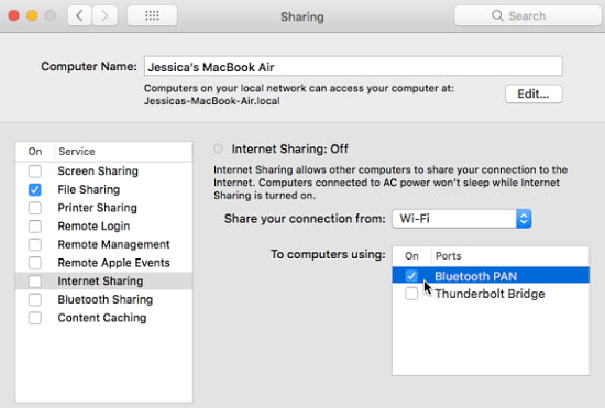 share password wifi macbook