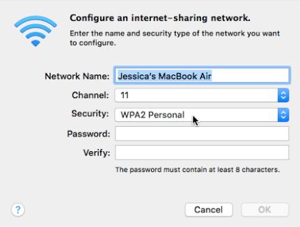 cách bật wifi trên macbook pro