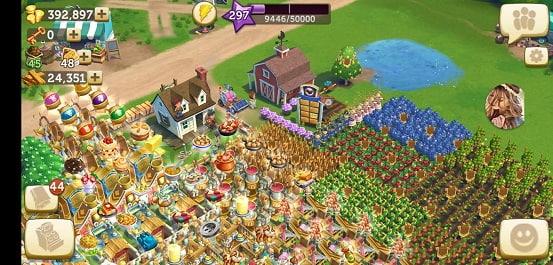 chơi farmville 2 trên máy tính