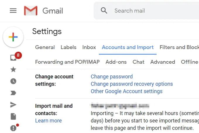 chuyển toàn bộ thư từ gmail sang gmail