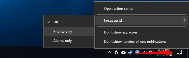 focus assist windows 10 là gì