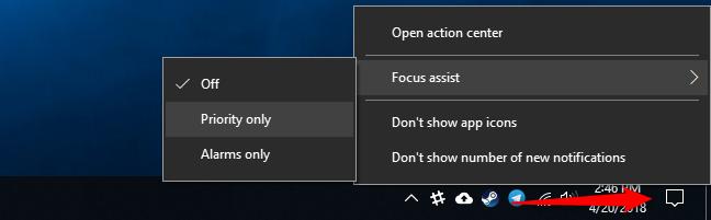 focus assist windows 10 là gì